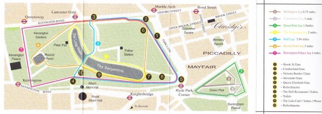 Hyde Park Walk Run Routes & Distances Map