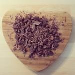 Chocolate on heart