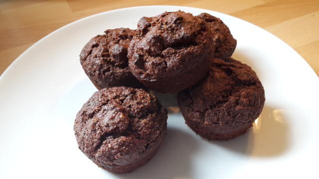 gluten free, banana and chocolate muffins 2