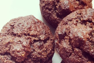 gluten free, banana and chocolate muffins