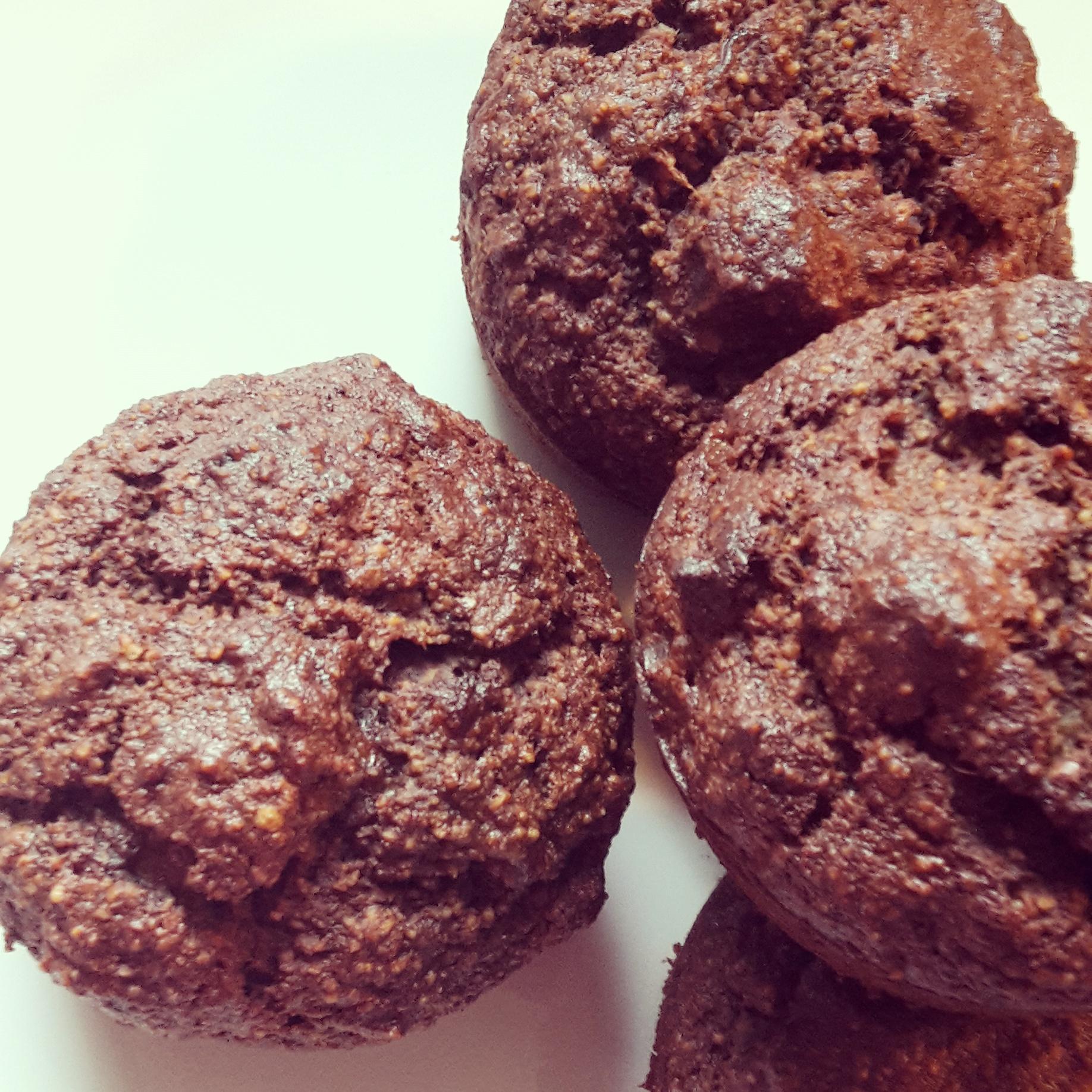 gluten free, banana and chocolate muffins